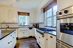 black granite white cabinets Granite kitchen Exclusive Marble & Granite Greensboro